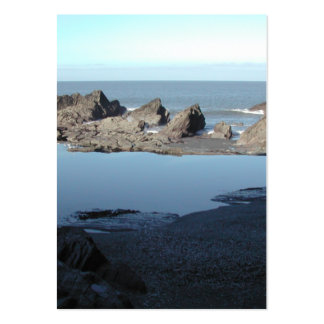 Rocky Beach. Scenic Coastal View. Large Business Card
