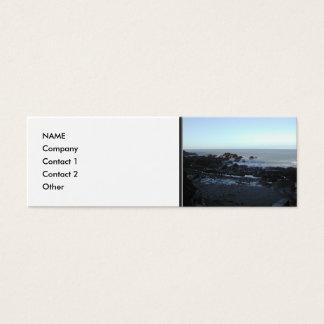 Rocky Beach. Scenic Coastal View. Mini Business Card