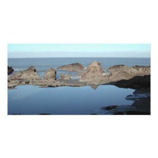 Rocky Beach. Scenic Coastal View. Photo Greeting Card