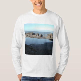 Rocky Beach. Scenic Coastal View. T-Shirt