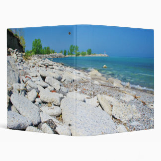 Rocky Beach Shore 3 Ring Binder