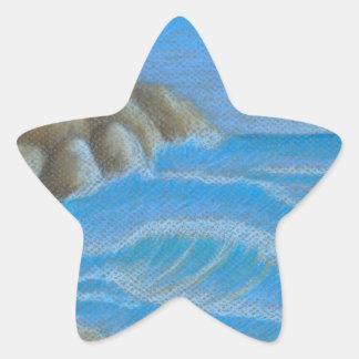 Rocky beach star sticker