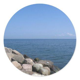 Rocky Beach Sticker sticker