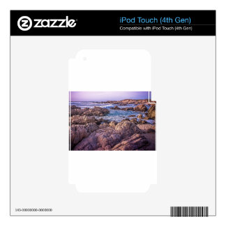 Rocky Beach Sunset iPod Touch 4G Decal