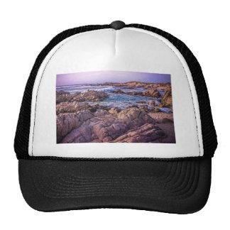 Rocky Beach Sunset Trucker Hat