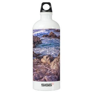 Rocky Beach Sunset Water Bottle