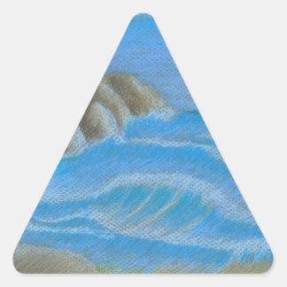 Rocky beach triangle sticker