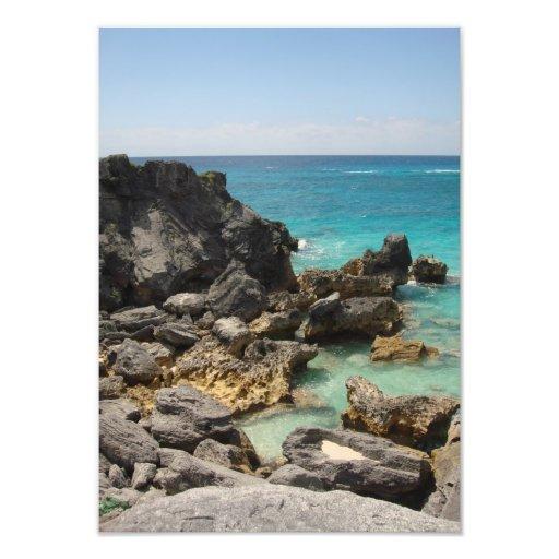 Rocky Bermuda Beach Art Photo