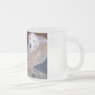 ROCKY & BO 10 OZ FROSTED GLASS COFFEE MUG