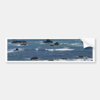 Rocky California Coastline Bumper Sticker