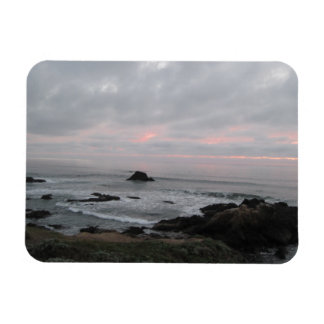 Rocky Cambria, California,  Coastline at Sunset Magnet