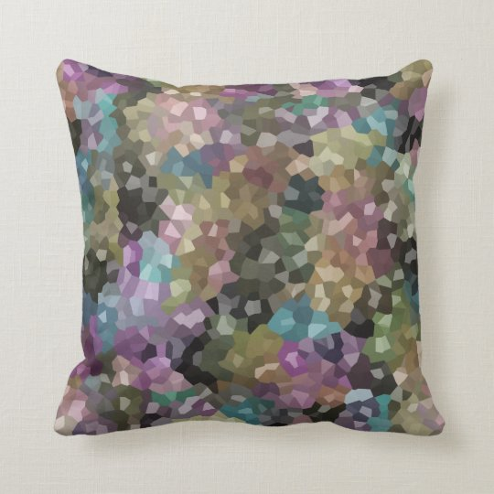 Rocky Candy Muted Tones Throw Pillow