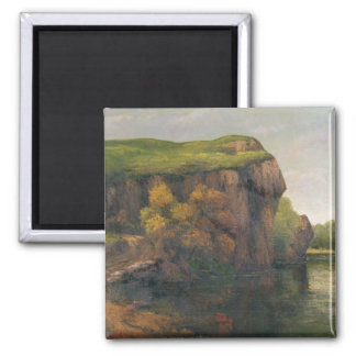 Rocky Cliffs 2 Inch Square Magnet
