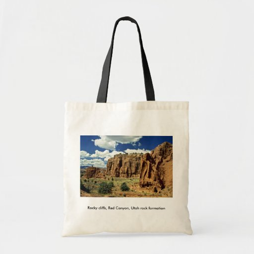 Rocky cliffs, Red Canyon, Utah rock formation Tote Bag