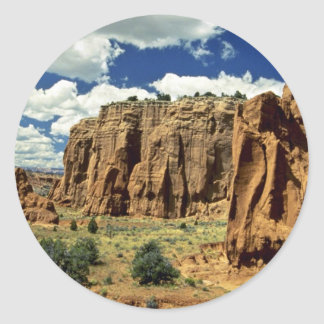 Rocky cliffs, Red Canyon, Utah rock formation Classic Round Sticker