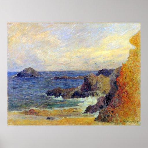 Rocky Coast by Eugène Henri Paul Gauguin Print