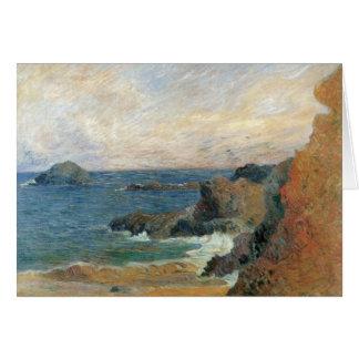 Rocky Coast by Paul Gauguin, Vintage Impressionism Card