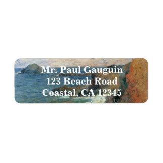 Rocky Coast by Paul Gauguin, Vintage Impressionism Label