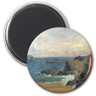 Rocky Coast, Gauguin, Vintage Post Impressionism Fridge Magnets