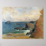 Rocky Coast, Gauguin, Vintage Post Impressionism Posters