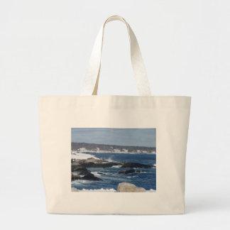 Rocky Coast Jumbo Tote Bag