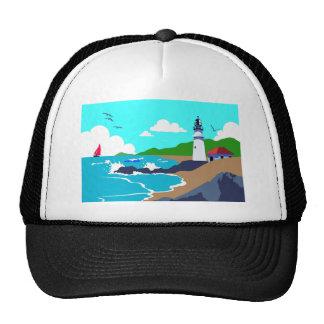 Rocky Coast Lighthouse Trucker Hat