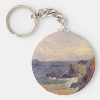 Rocky Coast - Paul Gauguin Keychain