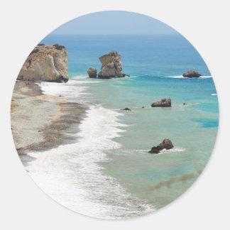 Rocky Coastline Classic Round Sticker
