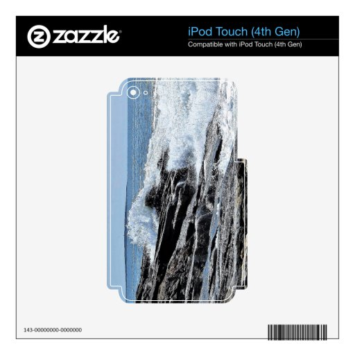 Rocky Coastline Surf Waves Crash Reid Park Decal For iPod Touch 4G