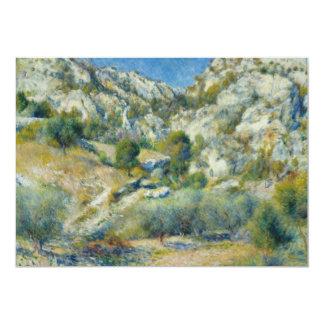 "Rocky Crags at L'Estaque by Pierre-Auguste Renoir 5"" X 7"" Invitation Card"