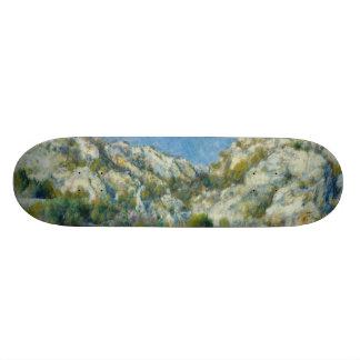 Rocky Crags at L'Estaque by Pierre-Auguste Renoir Skateboard Deck