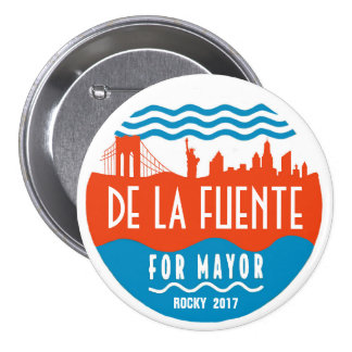 Rocky De La Fuente for NYC Mayor 2017 Pinback Button