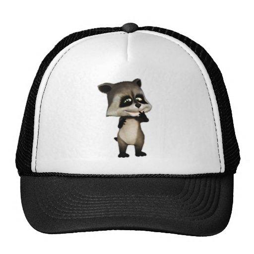 Rocky el mapache lindo del dibujo animado gorra