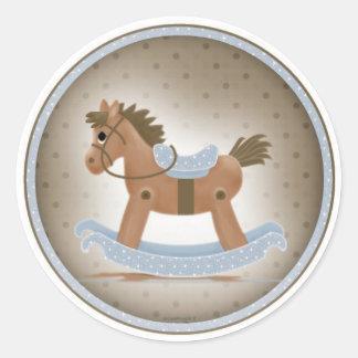 Rocky el pegatina del caballo mecedora
