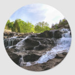 Rocky Falls From The Bottom Classic Round Sticker