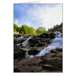 Rocky Falls From The Bottom Greeting Cards