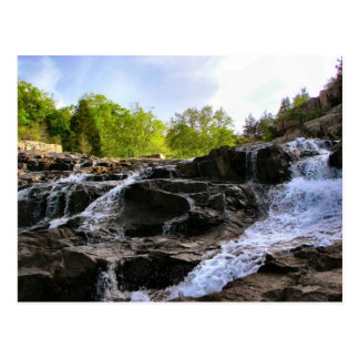 Rocky Falls From The Bottom Postcard