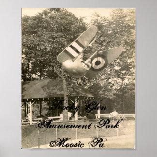 Rocky Glen Amusement Park Moosic Pa. Poster