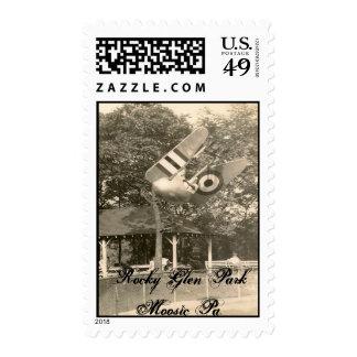 Rocky Glen Amusement Park Stamp