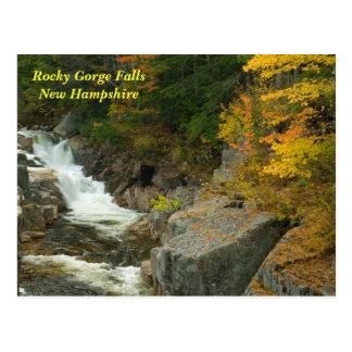 Rocky Gorge Falls, NH   Postcard
