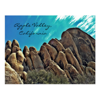 Rocky hills of Apple Valley post card
