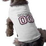 Rocky - jersey 00 de los deportes - camiseta del p playera sin mangas para perro