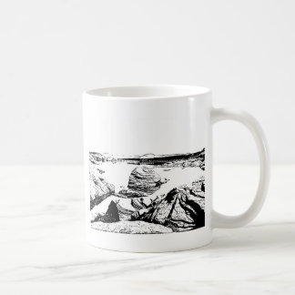 Rocky Lake in Pen and Ink Coffee Mug