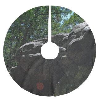 Rocky Landscape Brushed Polyester Tree Skirt