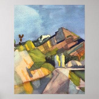 Rocky Landscape by August Macke Poster
