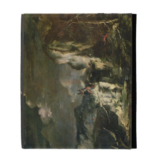 Rocky Landscape with a Huntsman and Warriors (oil iPad Folio Covers