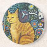 Rocky, los productos del gato de la estrella del r posavasos manualidades