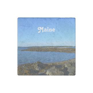Rocky Maine Coast Stone Magnet