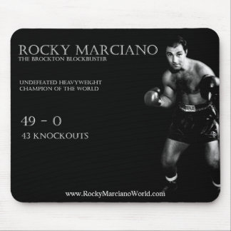 Rocky Marciano mouse pad
