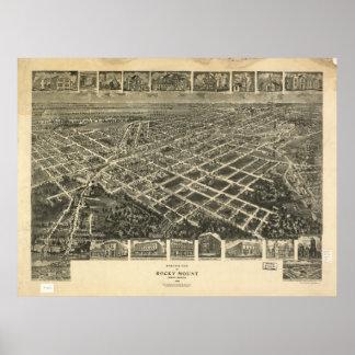 Rocky Mount N. Carolina 1907 Antique Panorama Poster